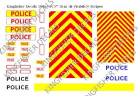 Rear Hi-Visibility Stripes for Police Vehicles